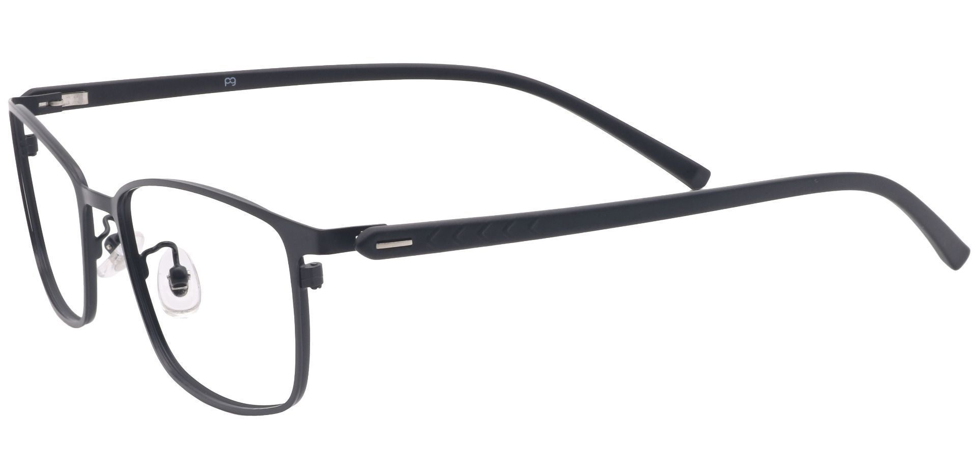 Bergen Rectangle Prescription Glasses - Black