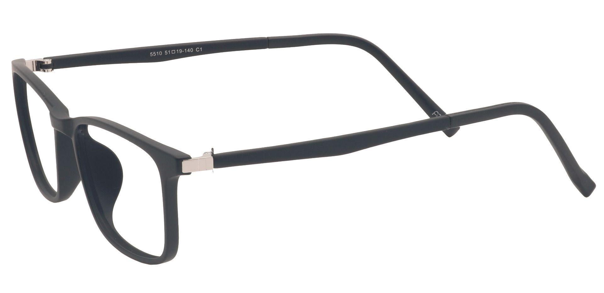 Butler Oval Blue Light Blocking Glasses - Black