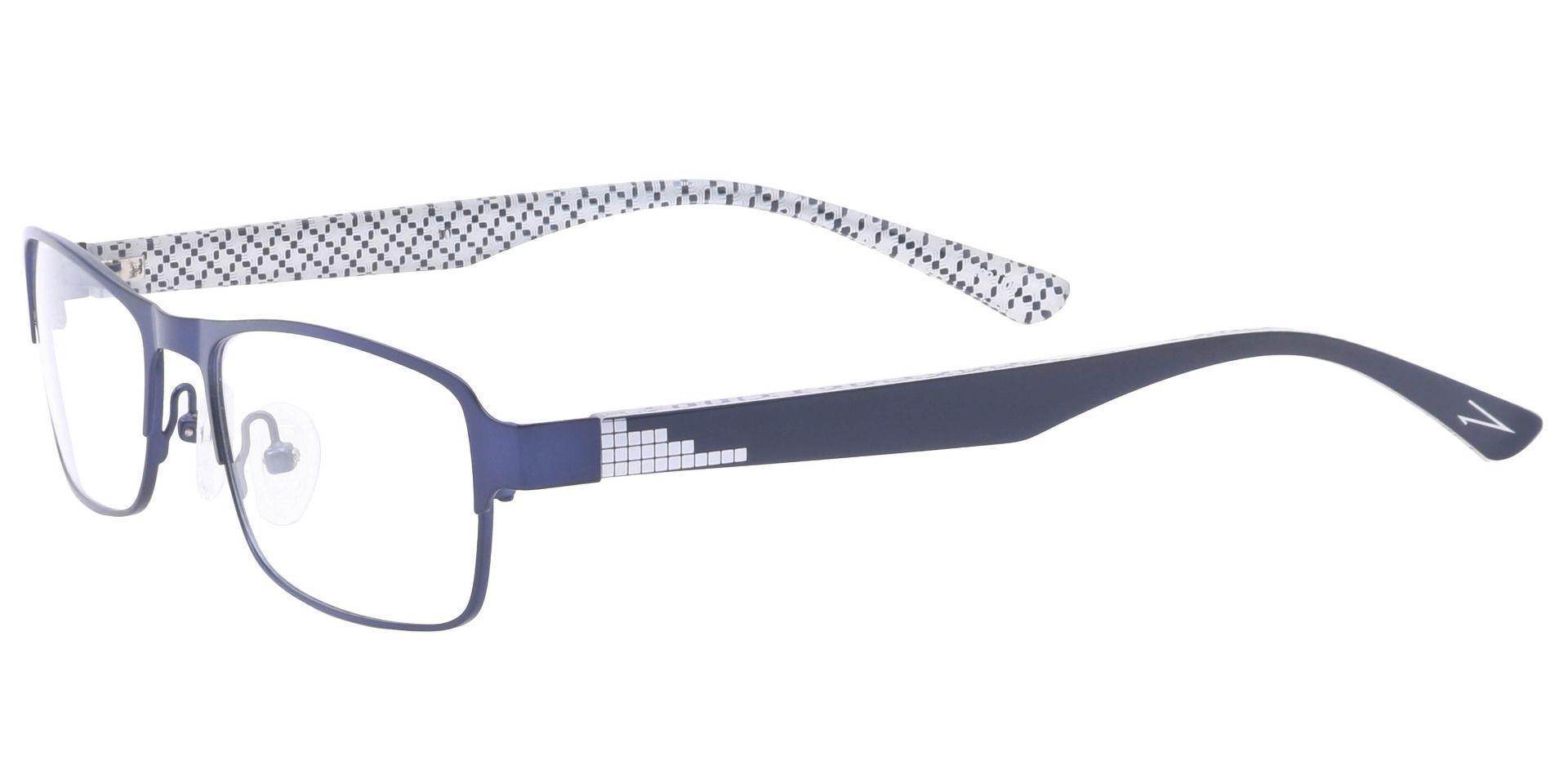 Theo Rectangle Prescription Glasses - Blue
