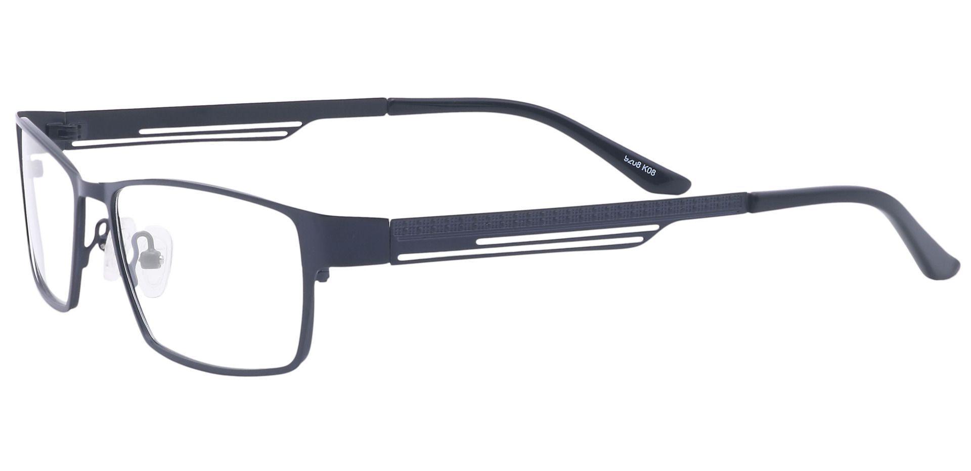 Noble Rectangle Prescription Glasses - Black