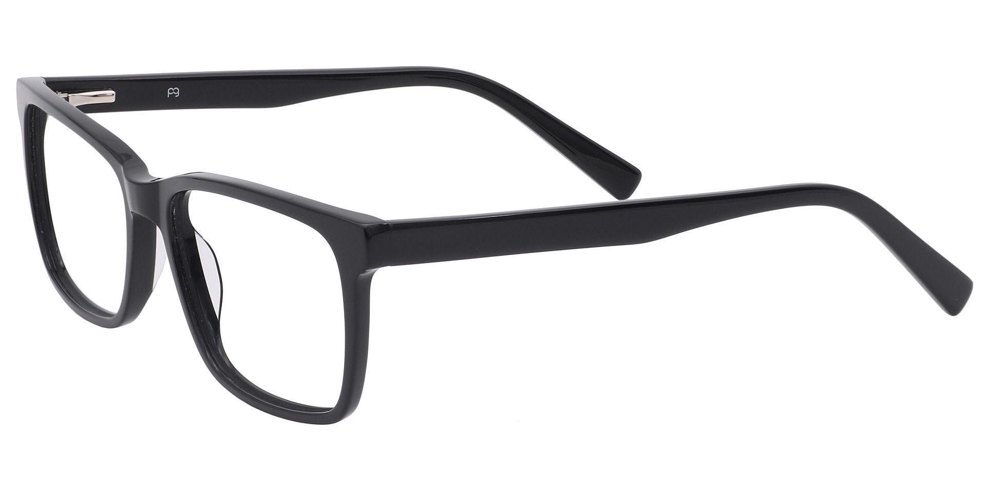 Galaxy Rectangle Prescription Glasses - Black