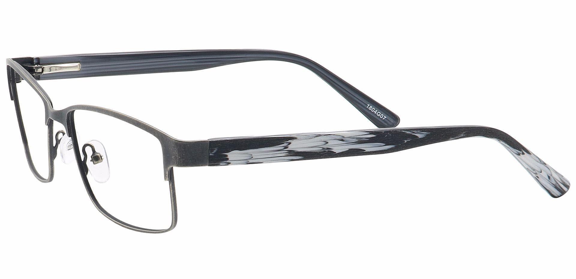 Hal Rectangle Non-Rx Glasses - Gray