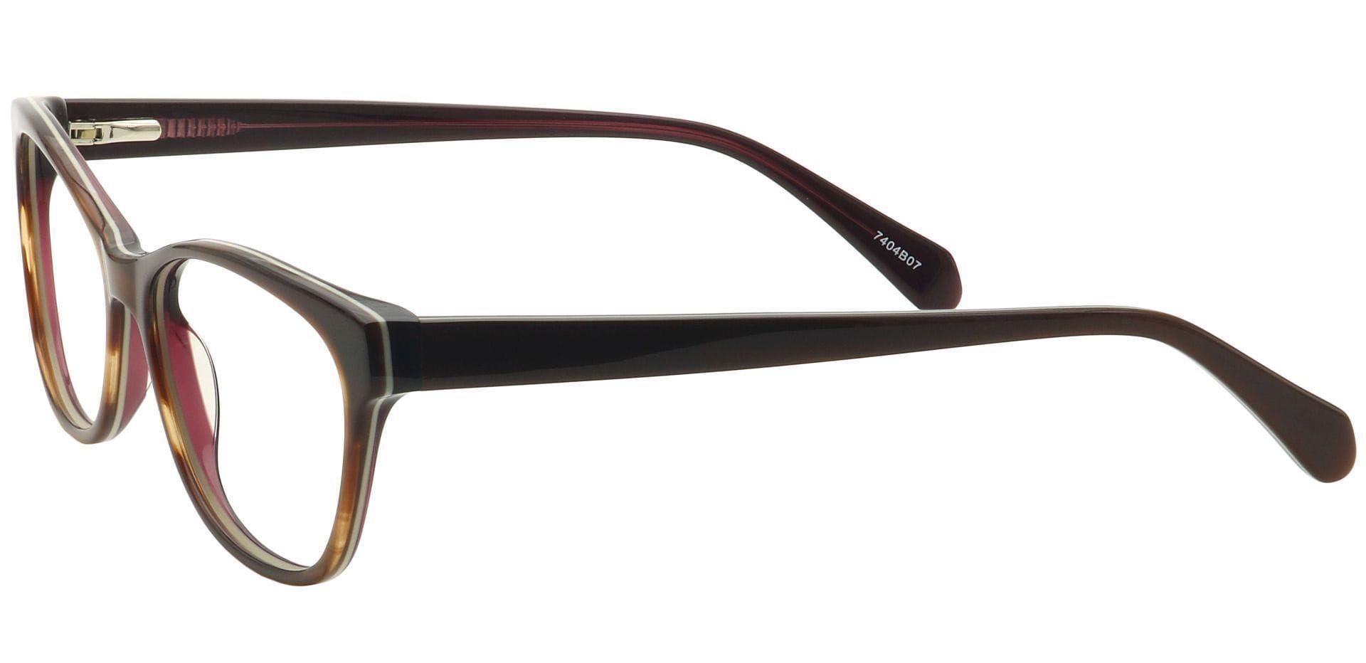 Cali Cat-Eye Prescription Glasses - Brown