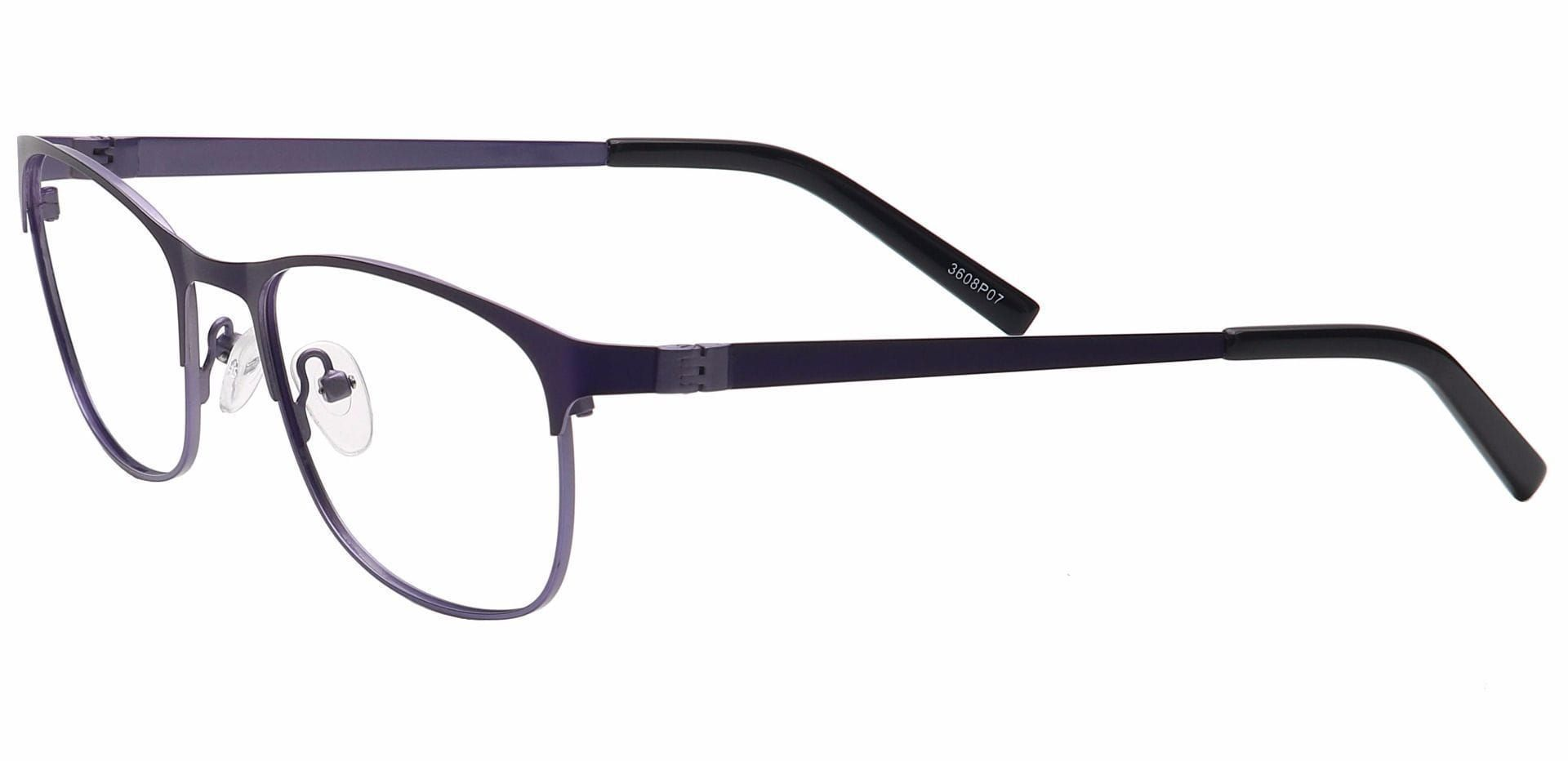 Tona Rectangle Prescription Glasses - Purple