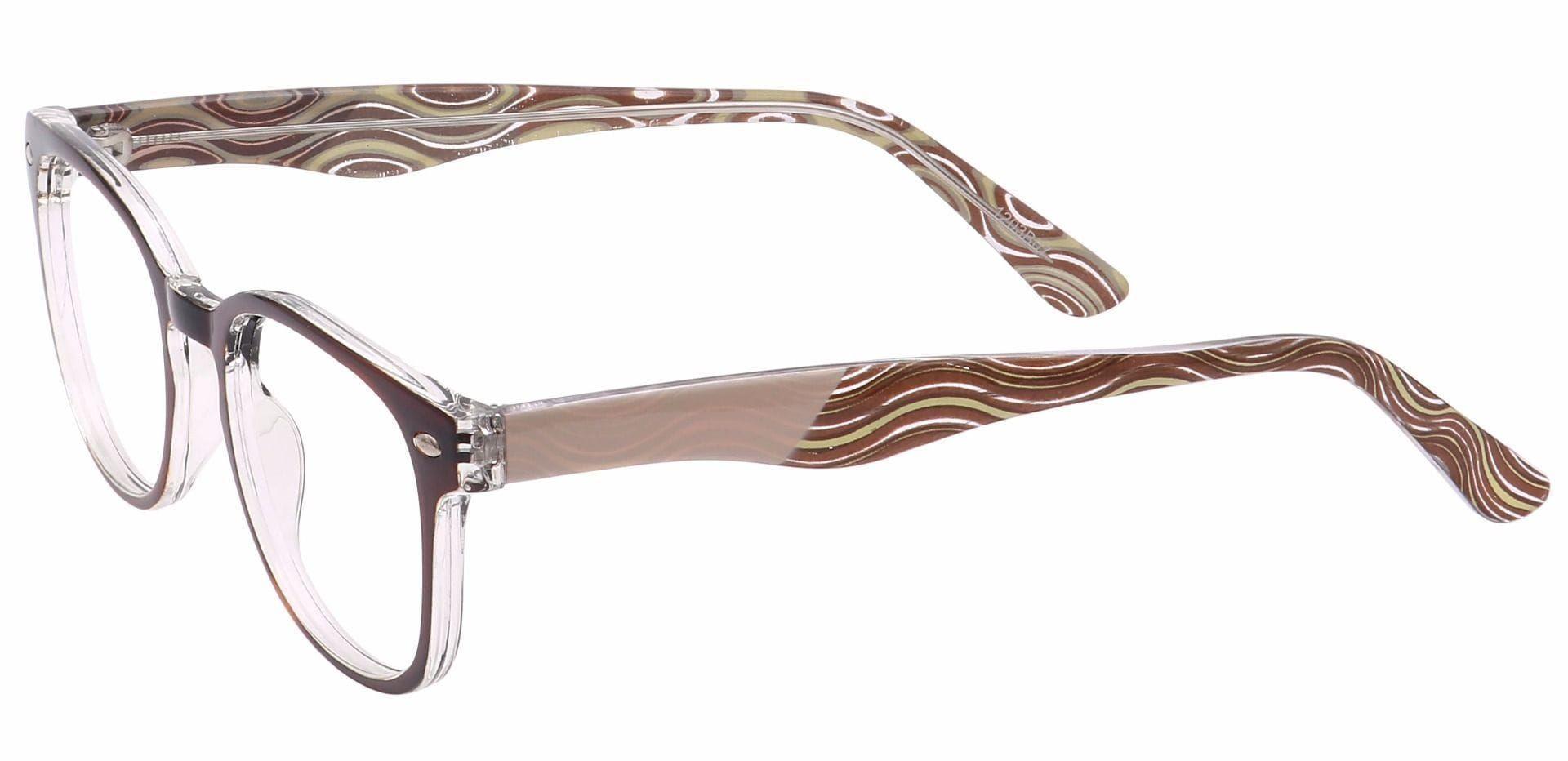 Swirl Rectangle Non-Rx Glasses - Brown