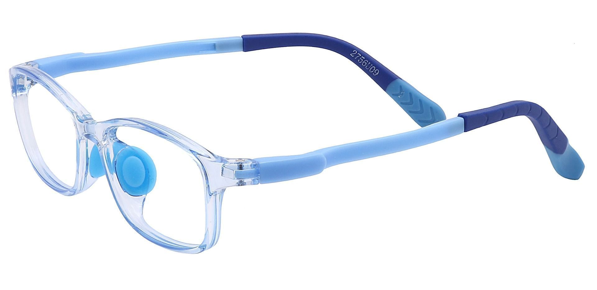 Taj Rectangle Prescription Glasses - Blue