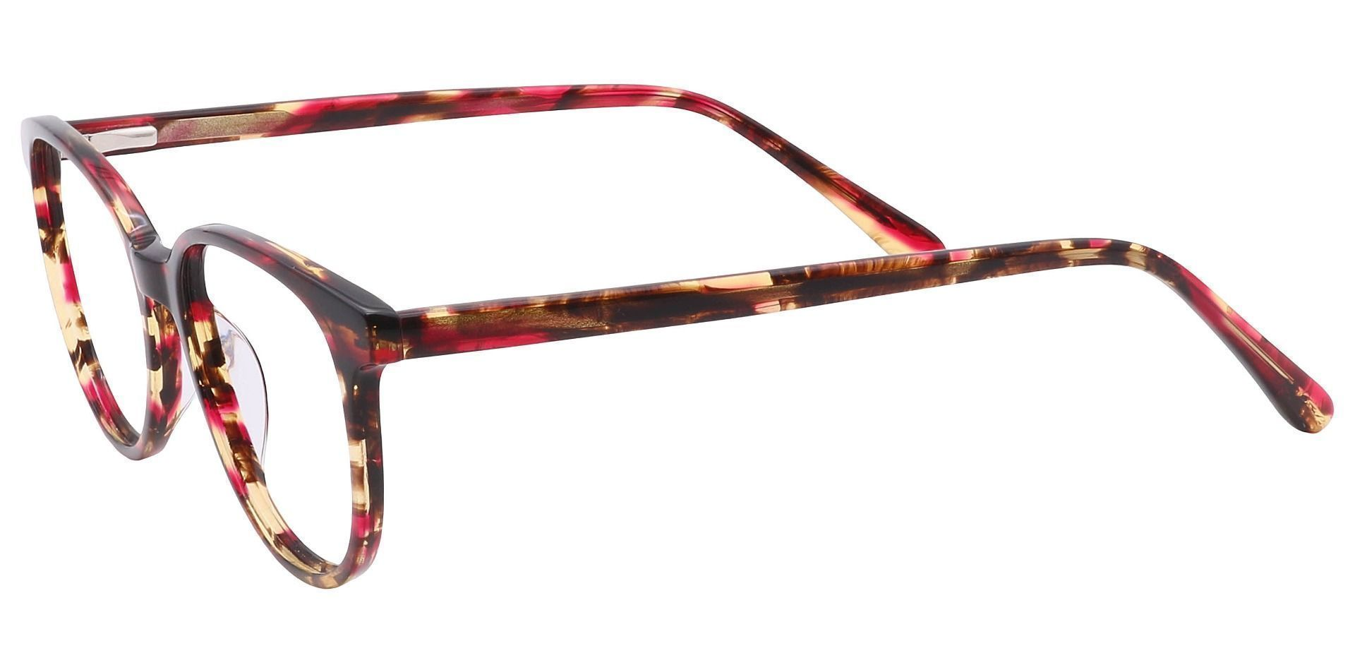 Java Round Prescription Glasses - Red
