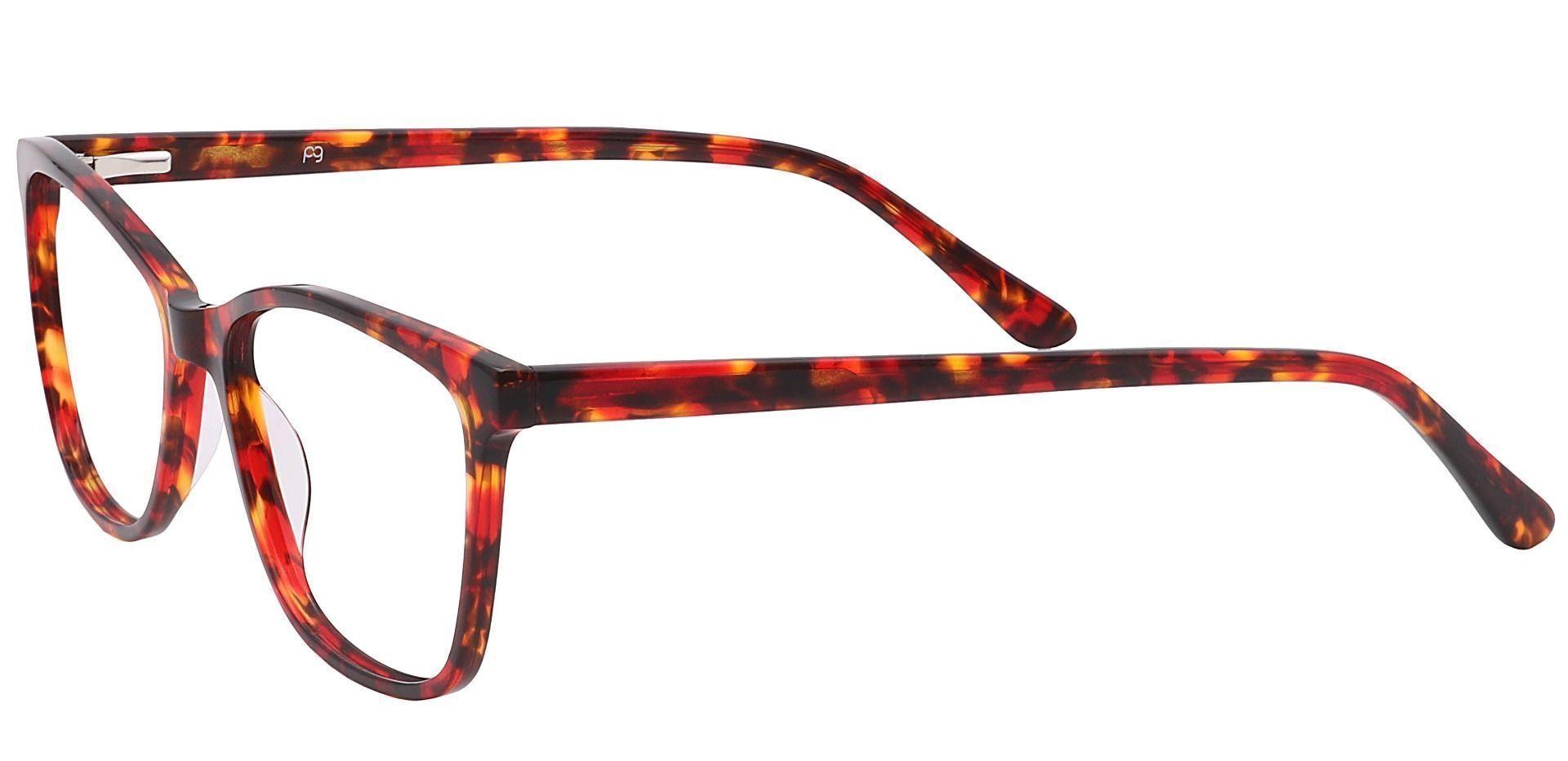 Antonia Square Prescription Glasses - Red