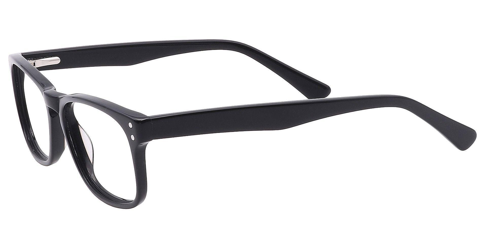Morris Rectangle Eyeglasses Frame - Black
