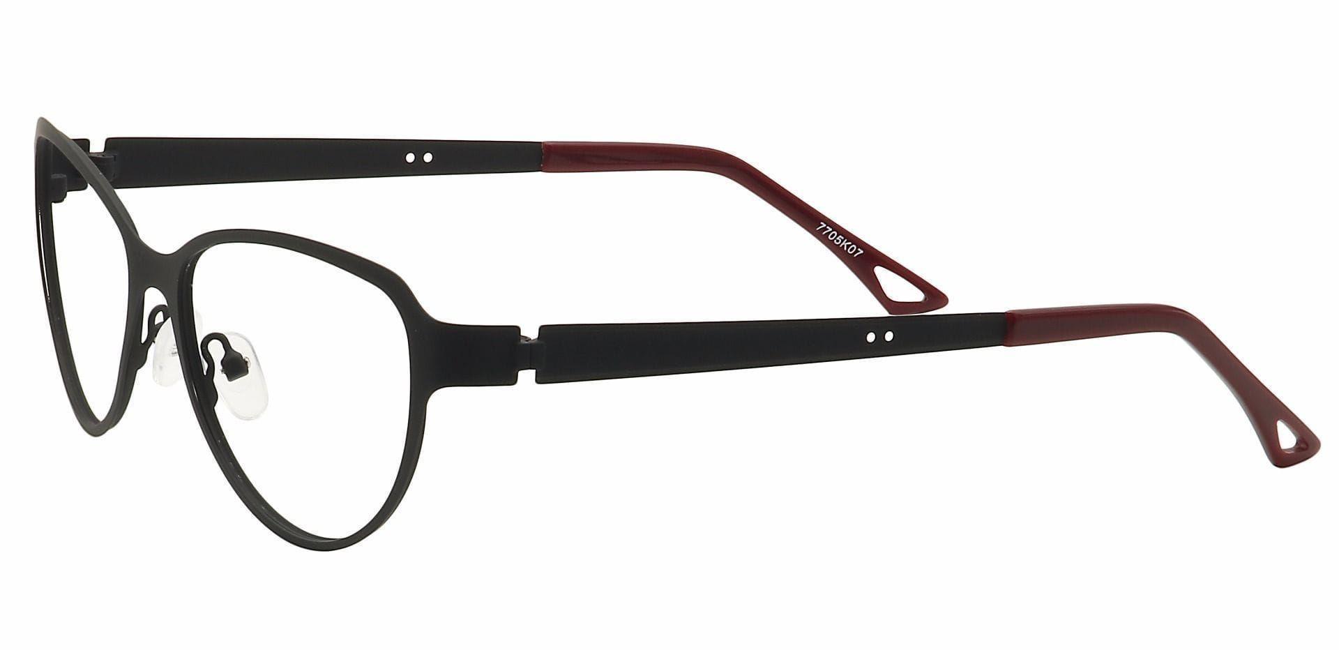 Sierra Cat-Eye Lined Bifocal Glasses - Black