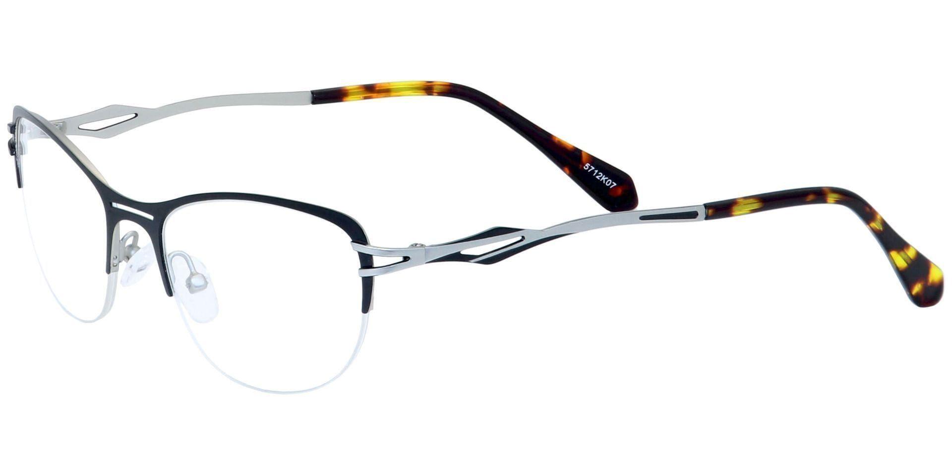 Cress Round Lined Bifocal Glasses - Black