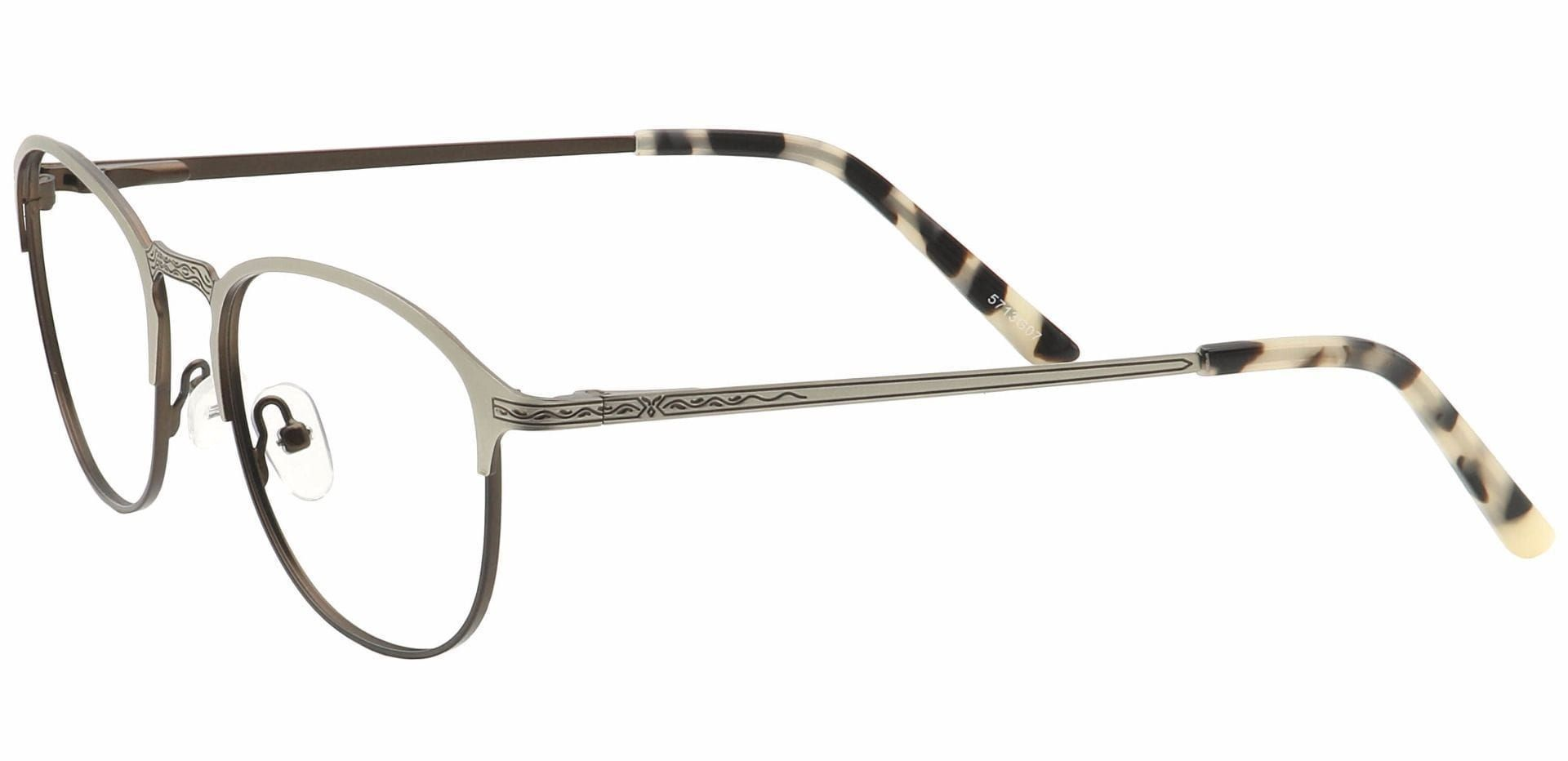 Mari Round Non-Rx Glasses - Brown