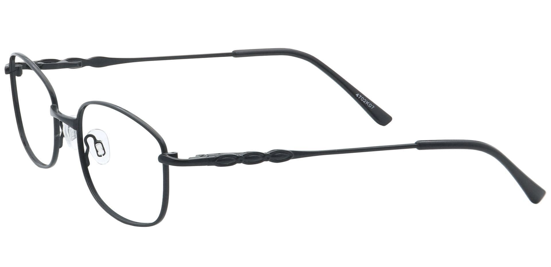 Halley Oval Non-Rx Glasses - Black