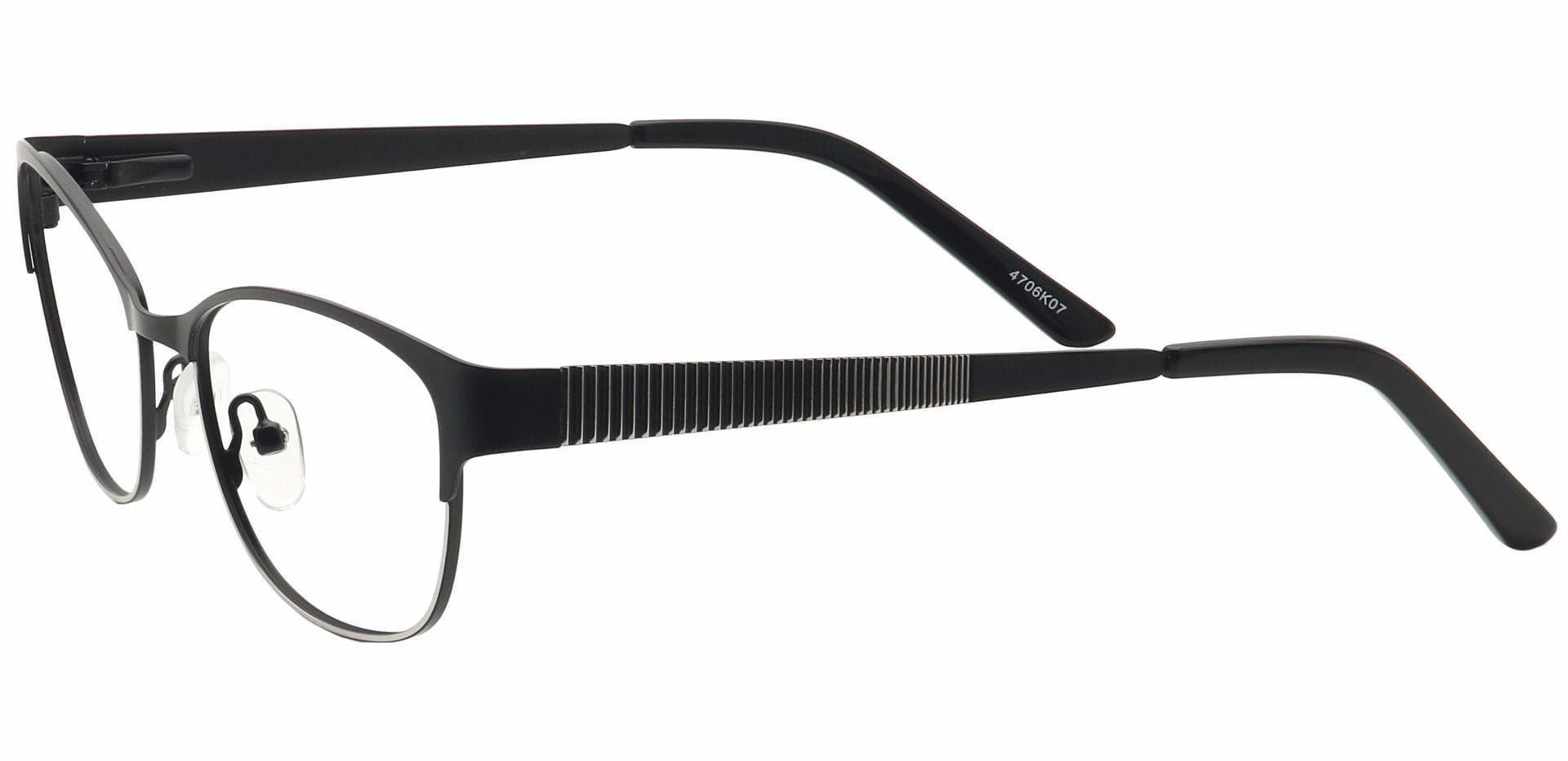 Verena Oval Prescription Glasses - Black