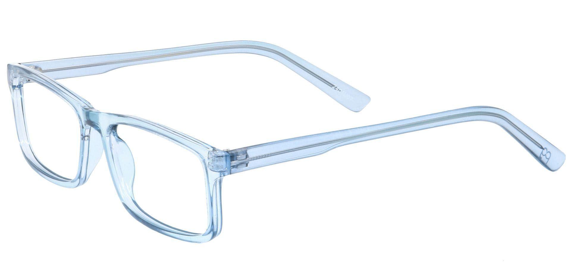 Holmes Rectangle Prescription Glasses - Blue