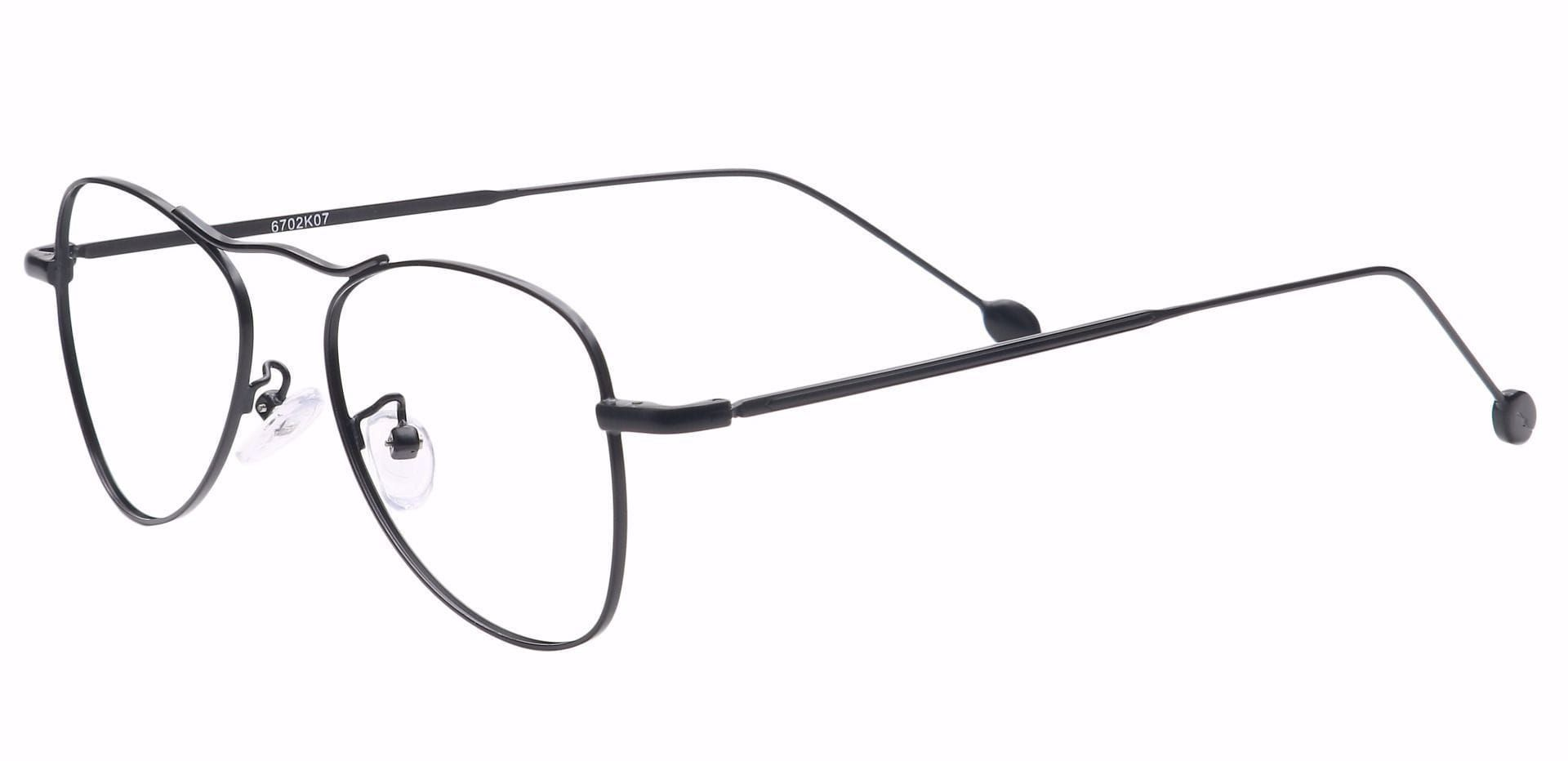 Brio Aviator Single Vision Glasses - Black