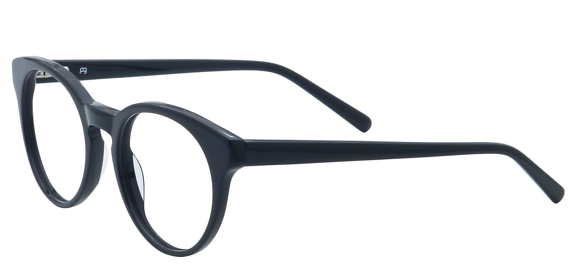 Spright Round Lined Bifocal Glasses - Shiny Black