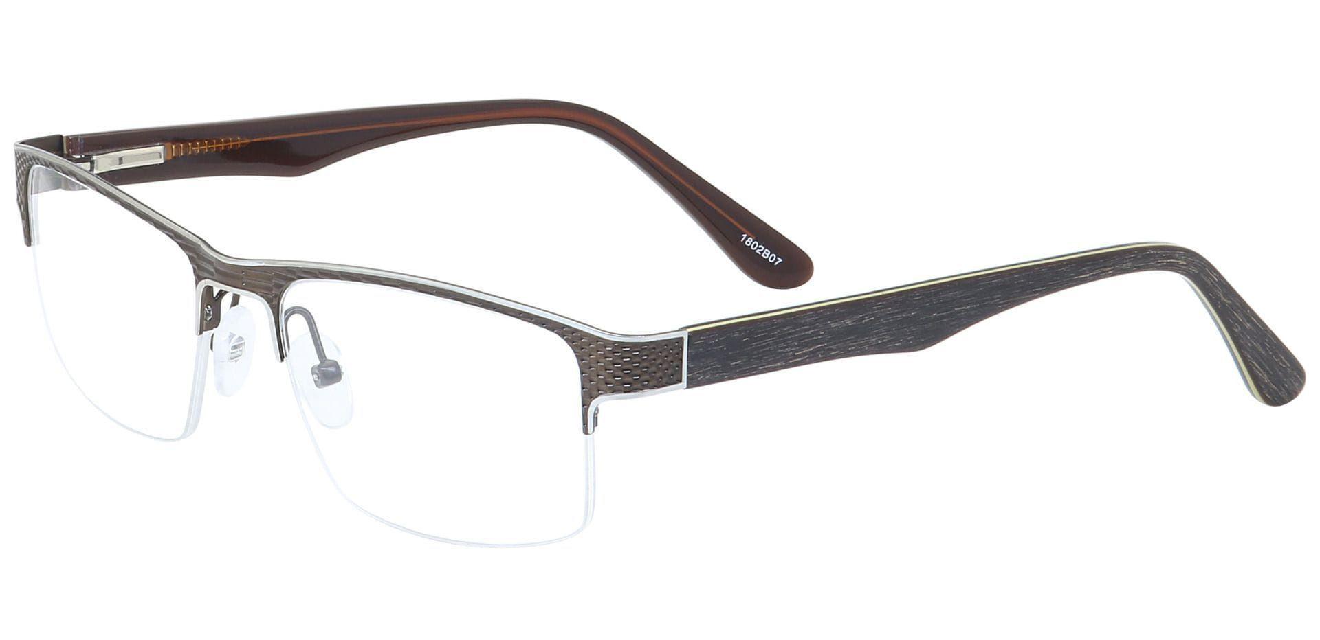 Rochelle Square Blue Light Blocking Glasses - Brown
