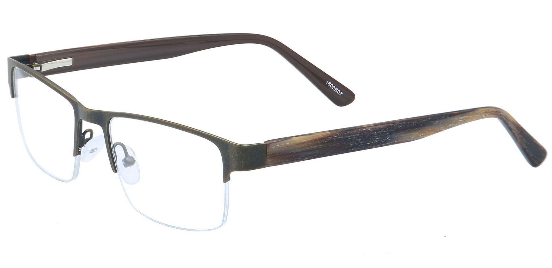 Midnight Square Eyeglasses Frame - Brown