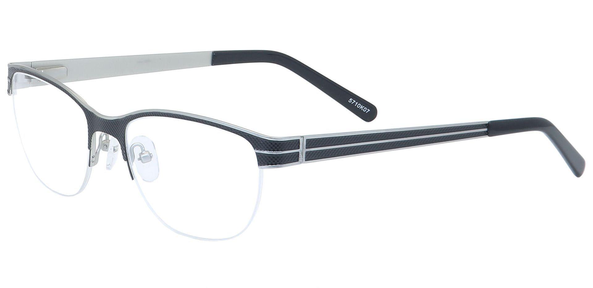Arren Round Blue Light Blocking Glasses - White
