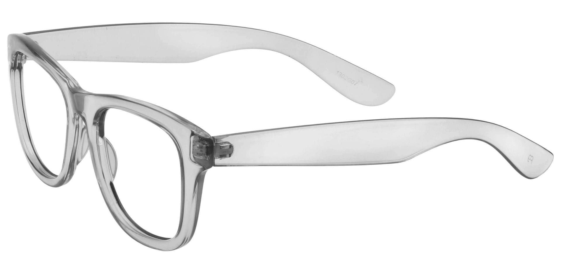 Callie Square Blue Light Blocking Glasses - Gray