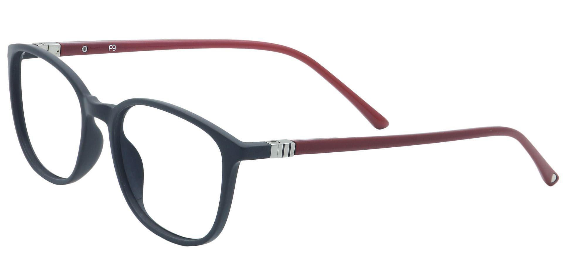 Karleen Oval Blue Light Blocking Glasses - Black