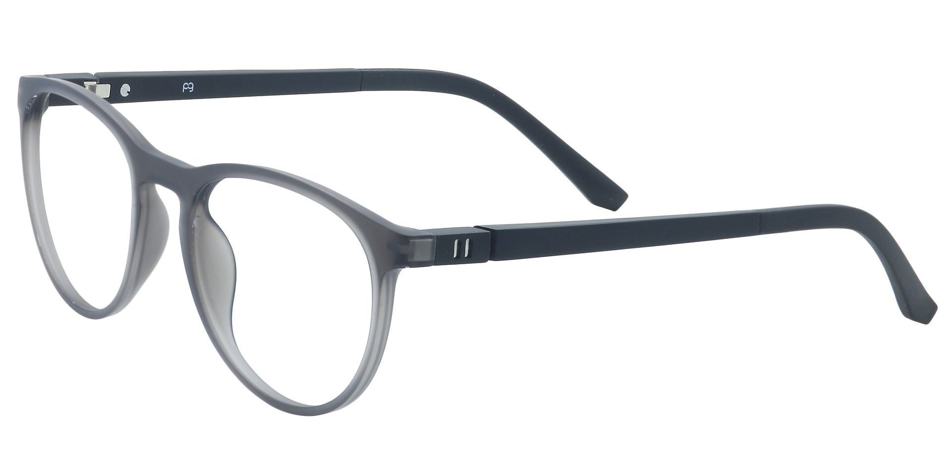 Heidi Round Reading Glasses - Matte Dark Grey