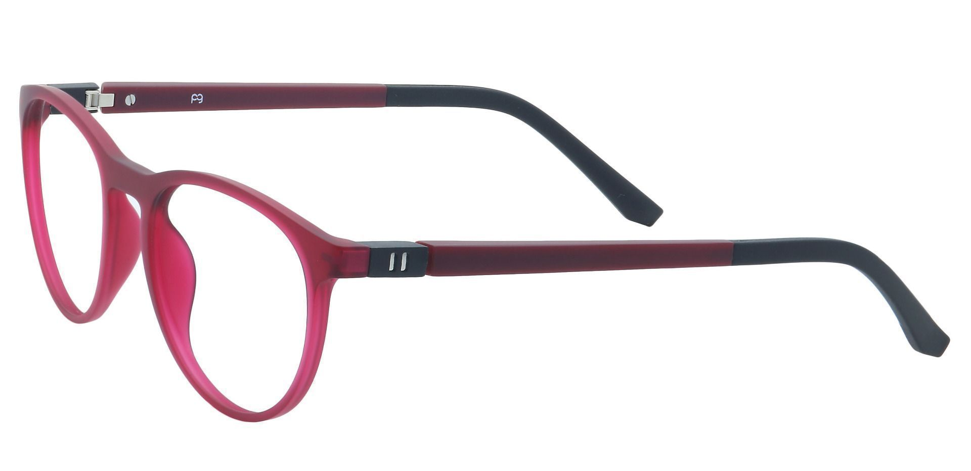 Heidi Round Prescription Glasses - Matte Red