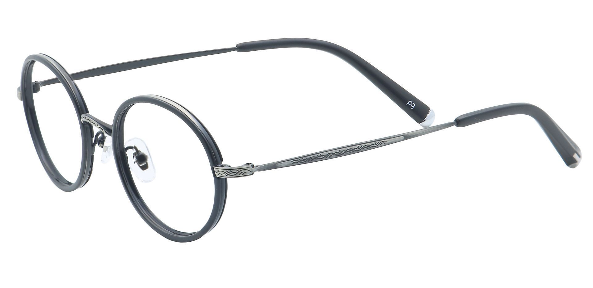Petunia Round Progressive Glasses - Black