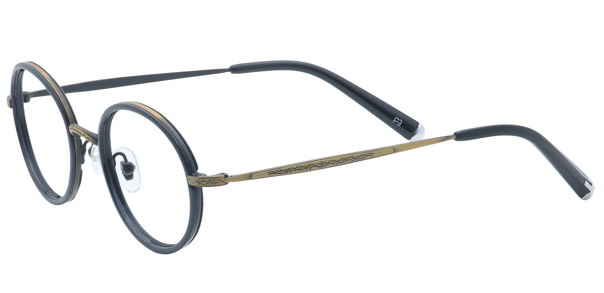 Petunia Round Non-Rx Glasses - Brown