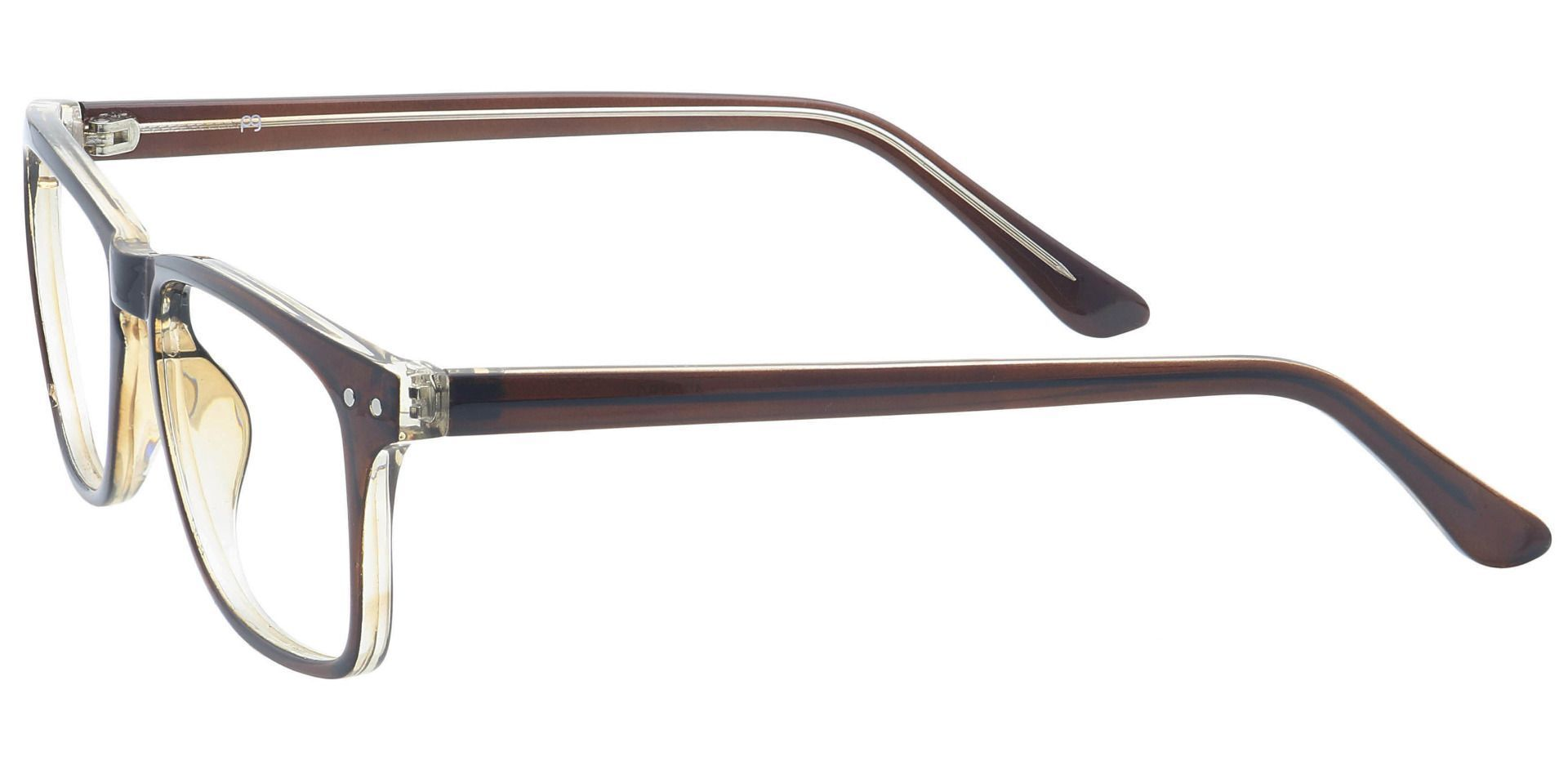 Hope Oval Non-Rx Glasses - Brown