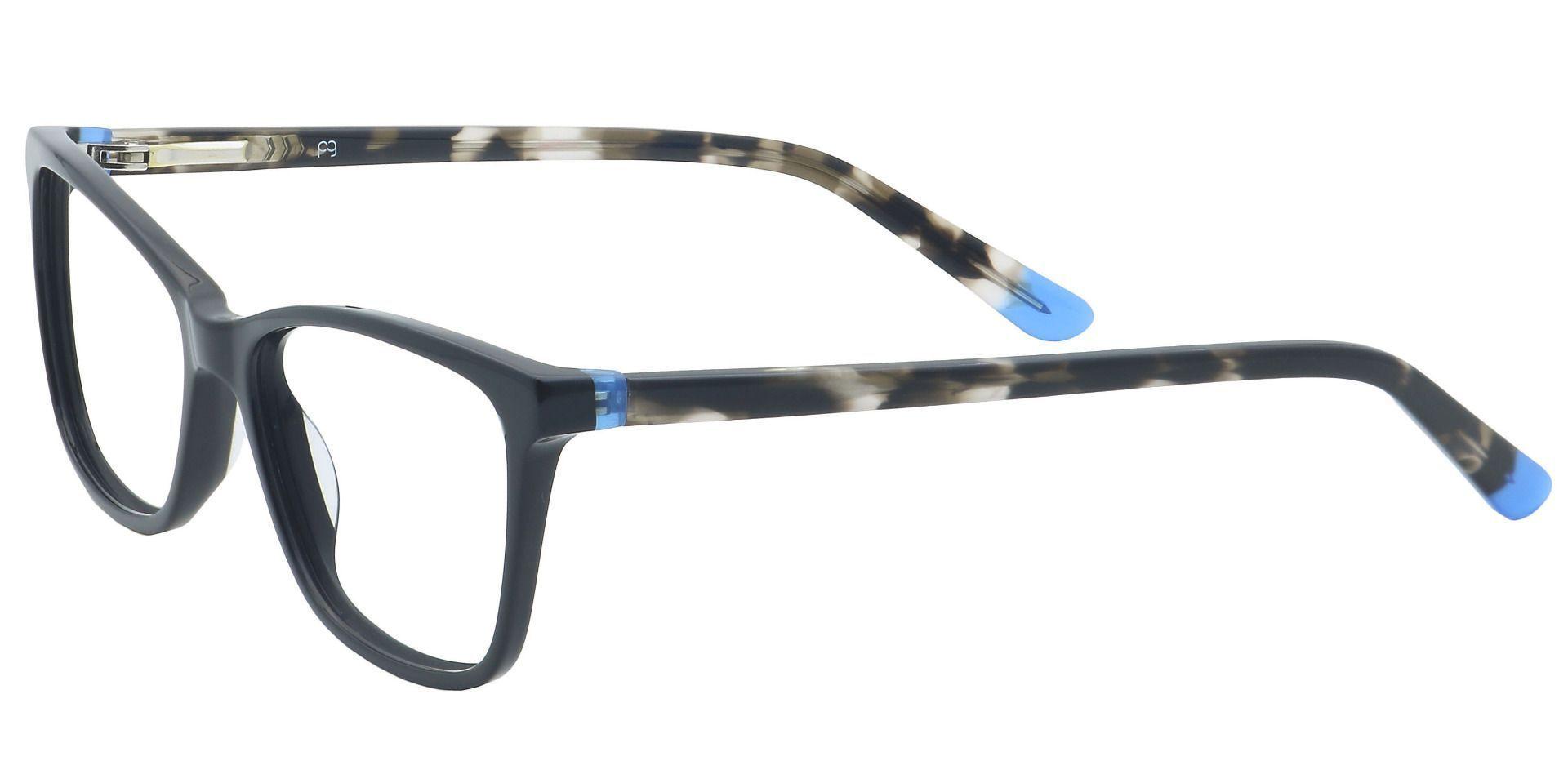 Giulian Square Prescription Glasses - Black