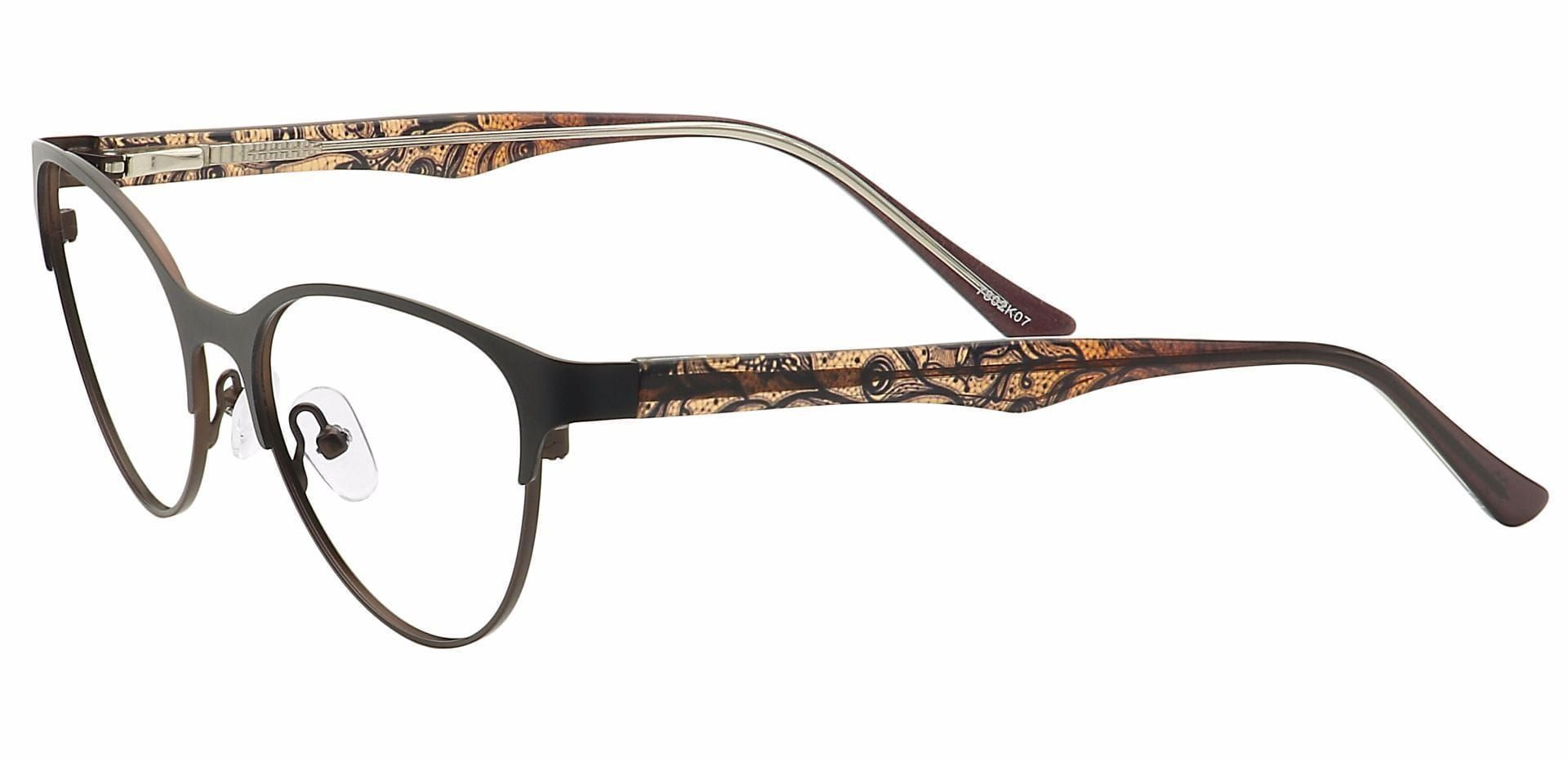 Jorde Cat-Eye Lined Bifocal Glasses - Brown