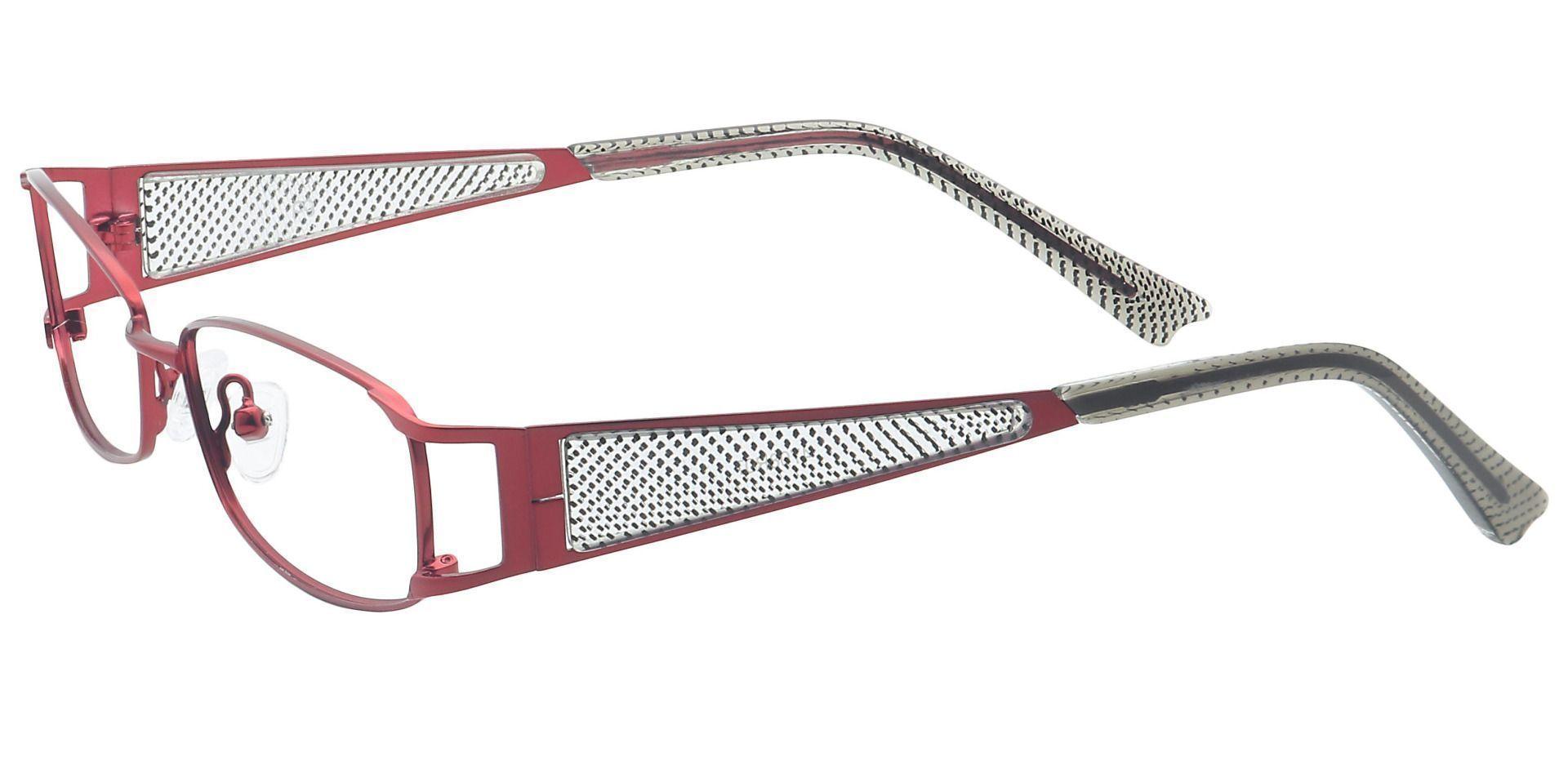 Rosalie Rectangle Reading Glasses - Red