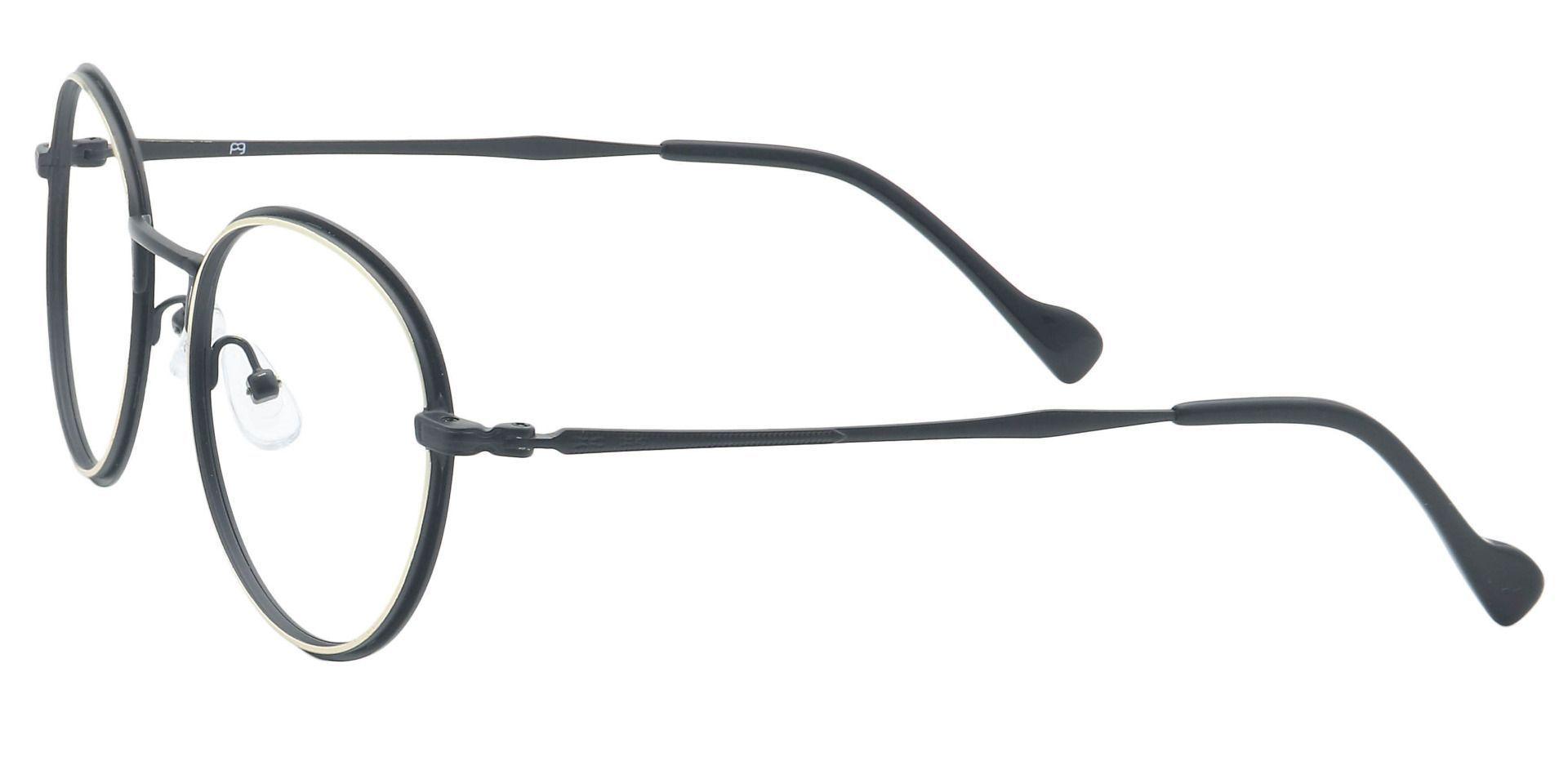 Page Oval Prescription Glasses - Black