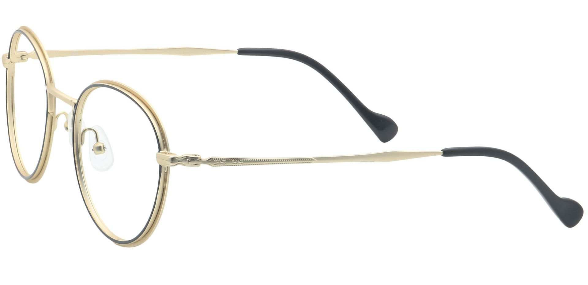 Page Oval Eyeglasses Frame - Yellow