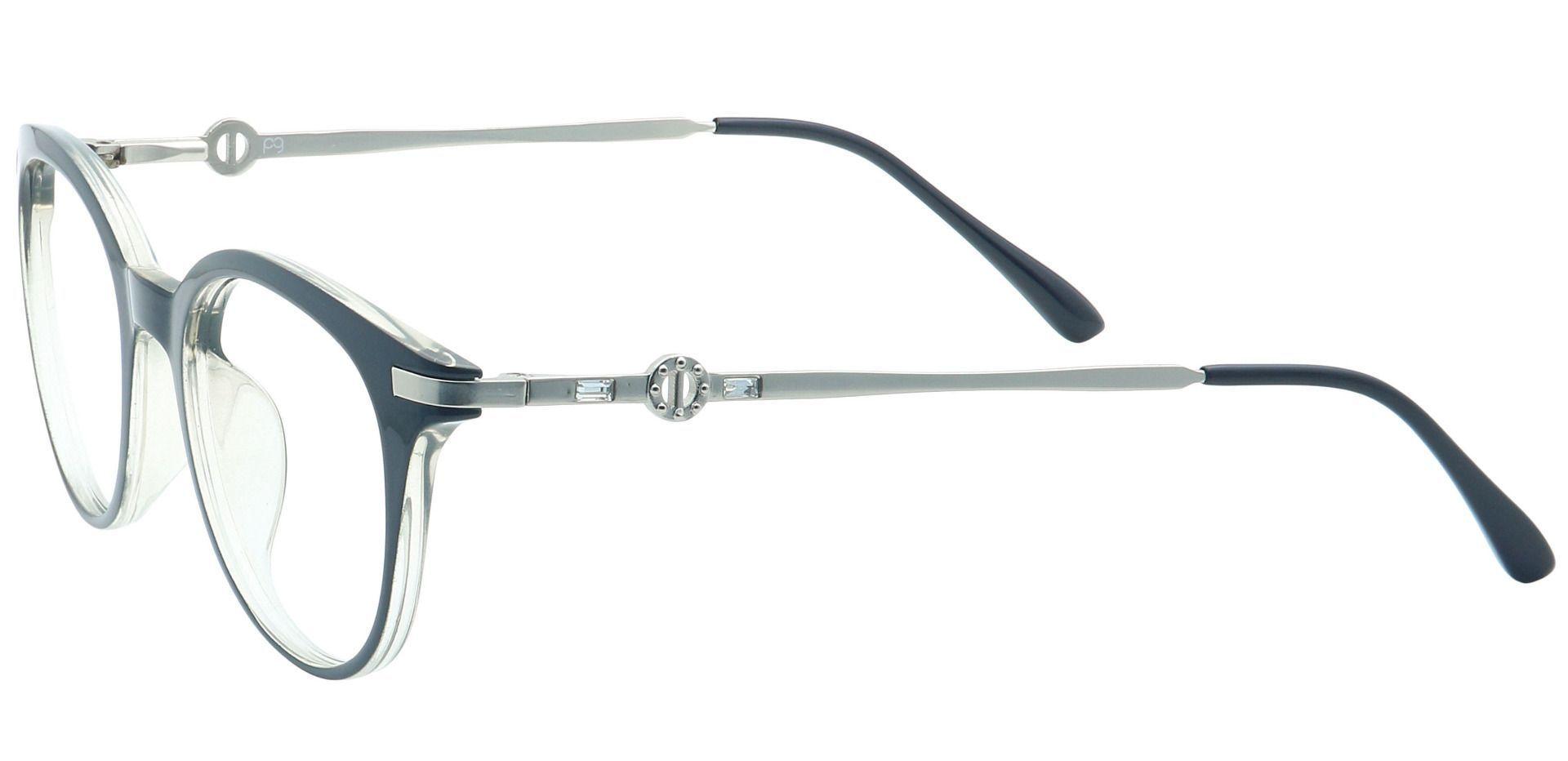 Penny Oval Lined Bifocal Glasses - Black