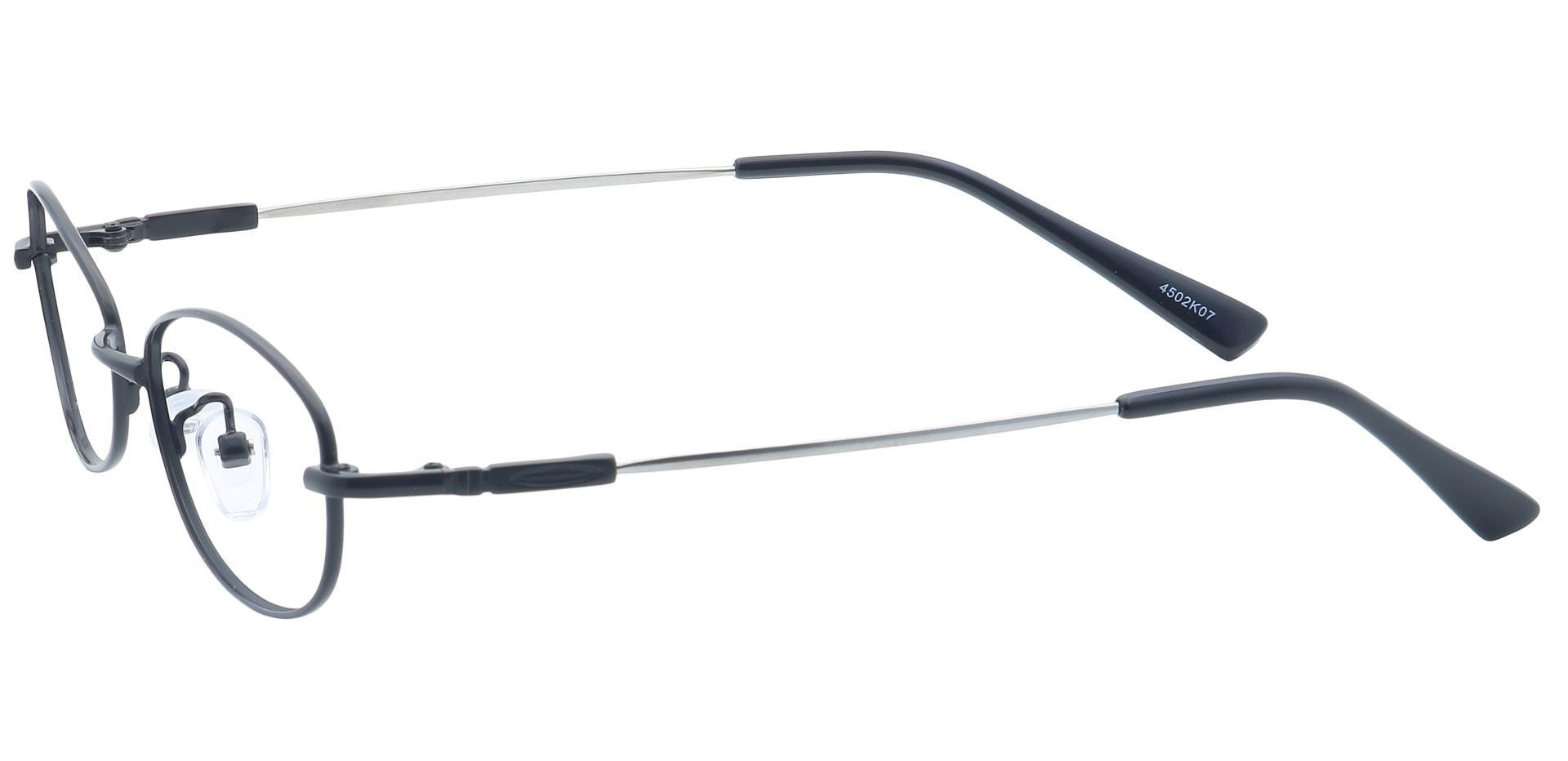 Coronation Oval Non-Rx Glasses - Black