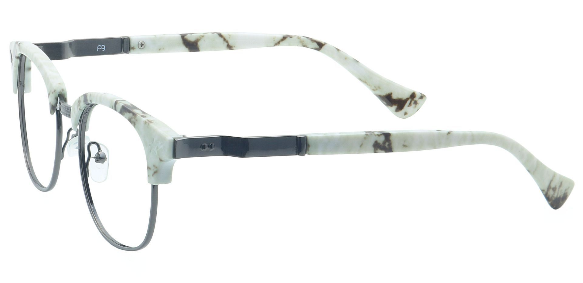 Neptune Browline Blue Light Blocking Glasses - White