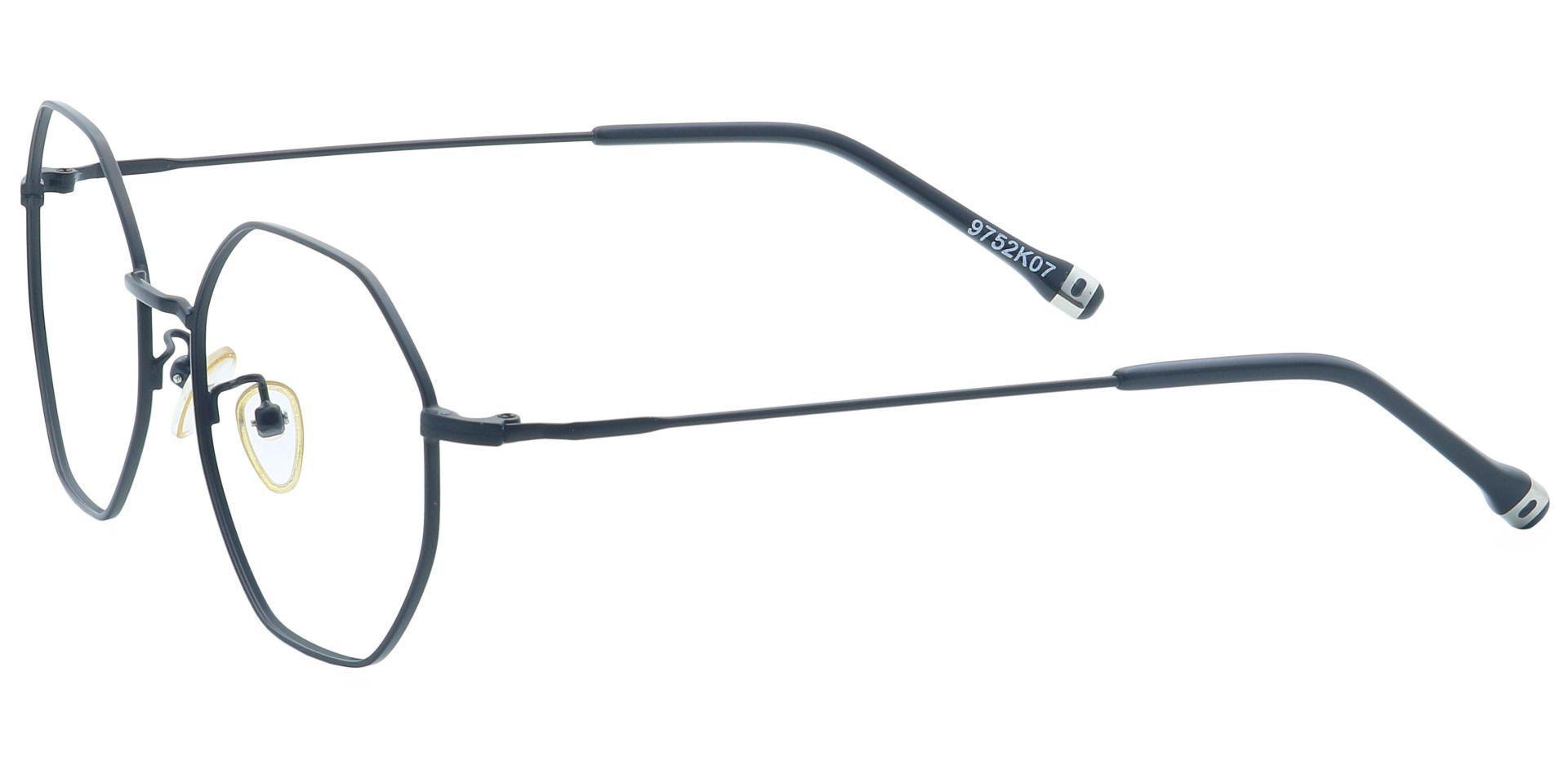 Met Round Eyeglasses Frame - Black