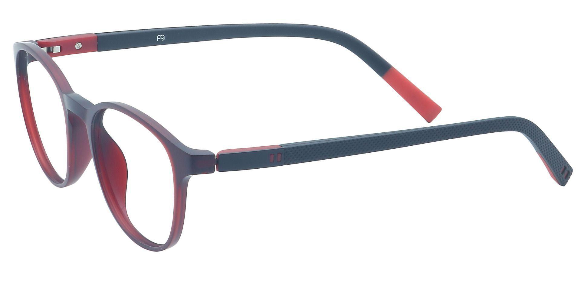 Flex Round Non-Rx Glasses - Red