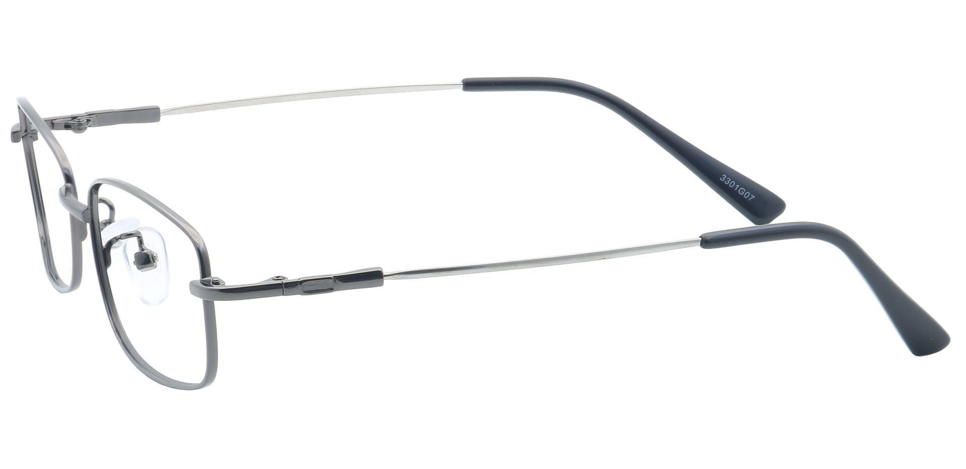 Ross Rectangle Eyeglasses Frame -  Gunmetal