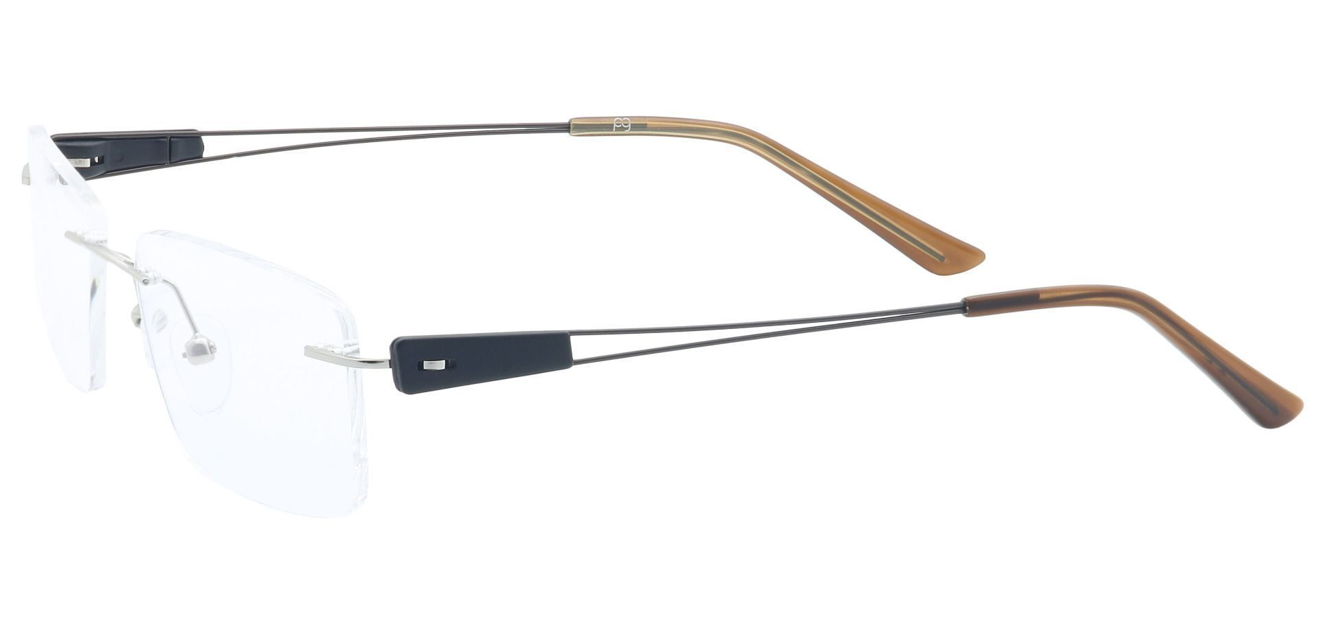 Aspen Rimless Non-Rx Glasses - Clear