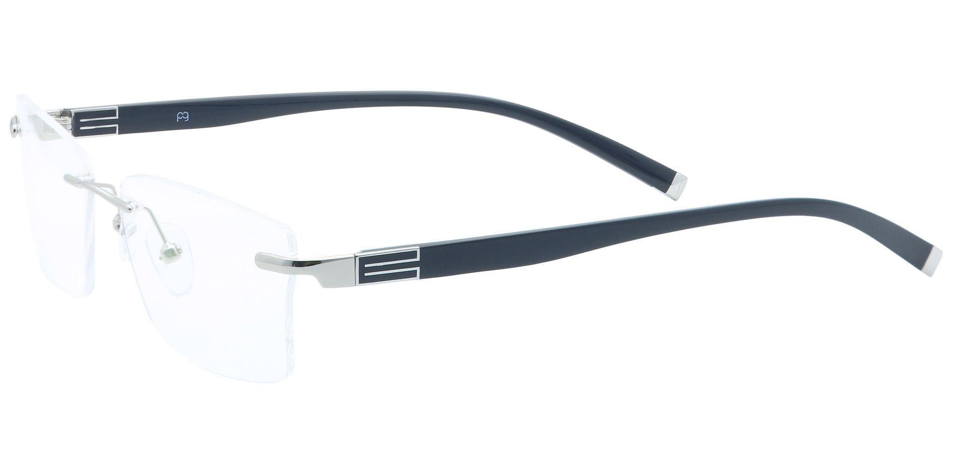 Cleo Rimless Non-Rx Glasses - Clear