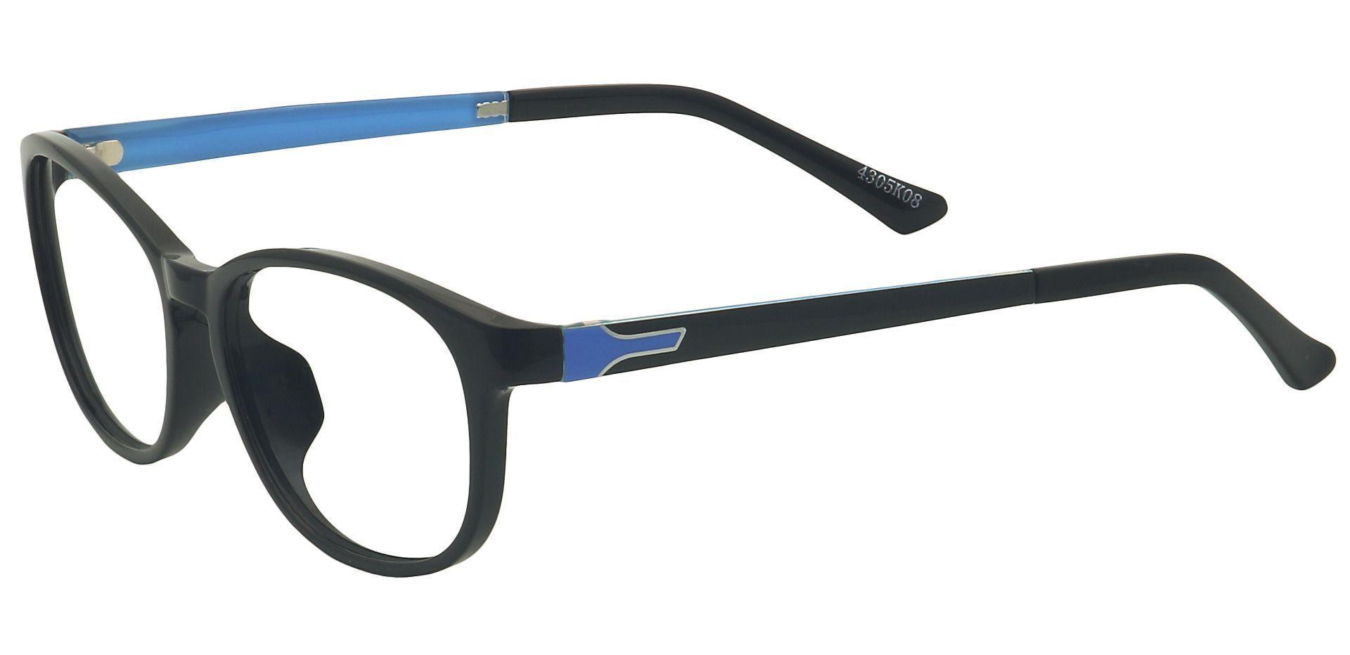 Tigress Oval Prescription Glasses - Black