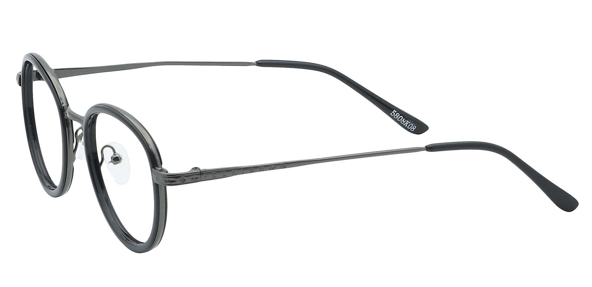 Gage Oval Prescription Glasses - Black