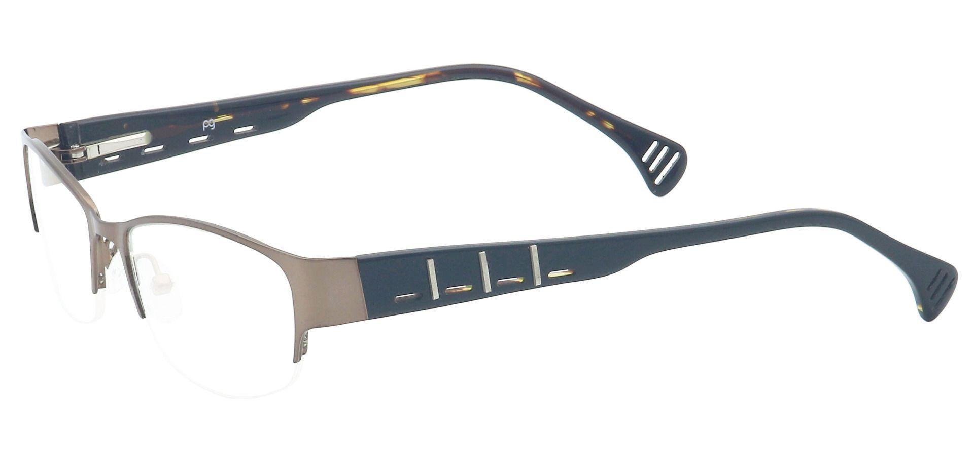 Layla Rectangle Progressive Glasses - Brown