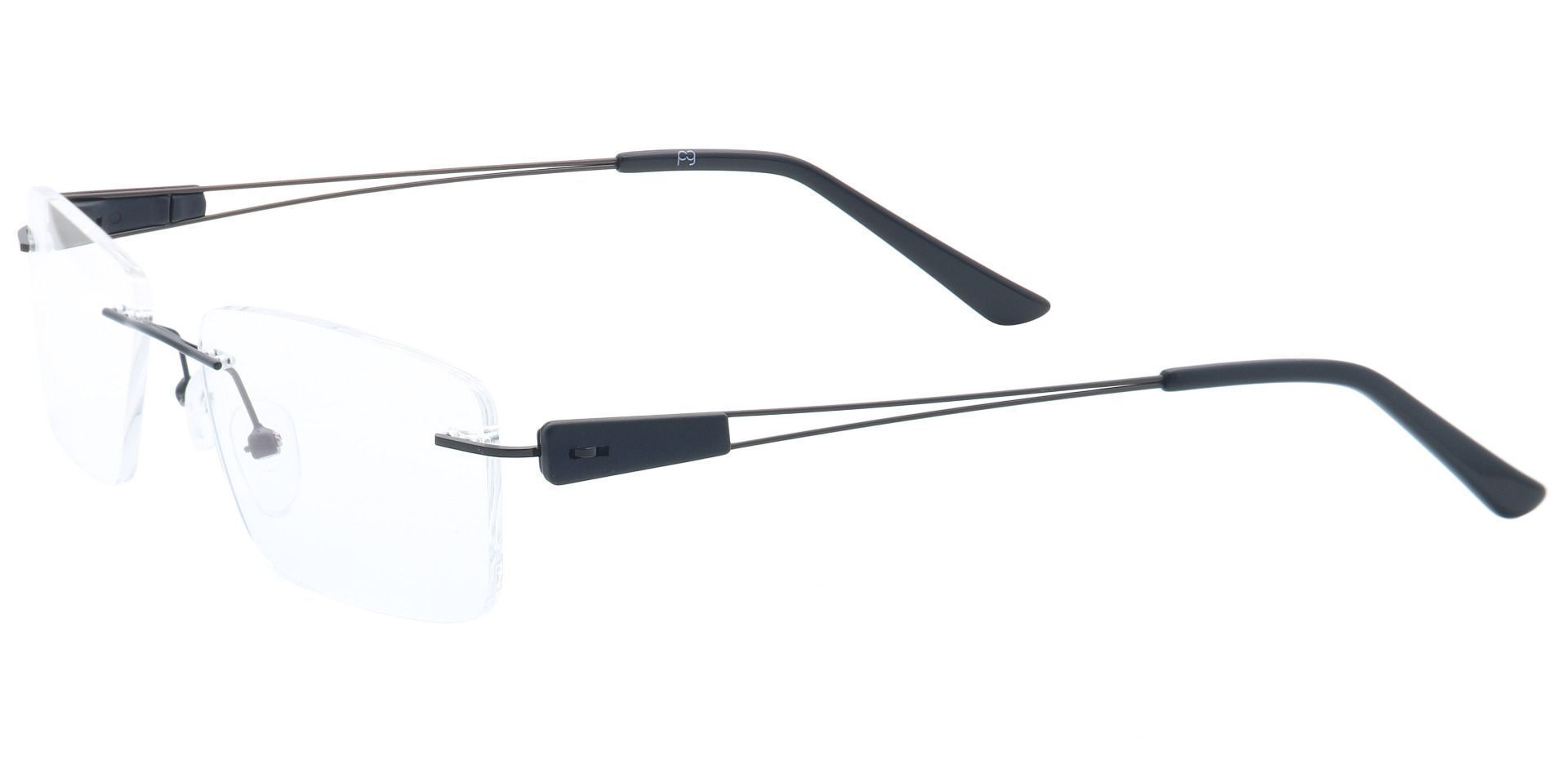 River Rimless Prescription Glasses - Black