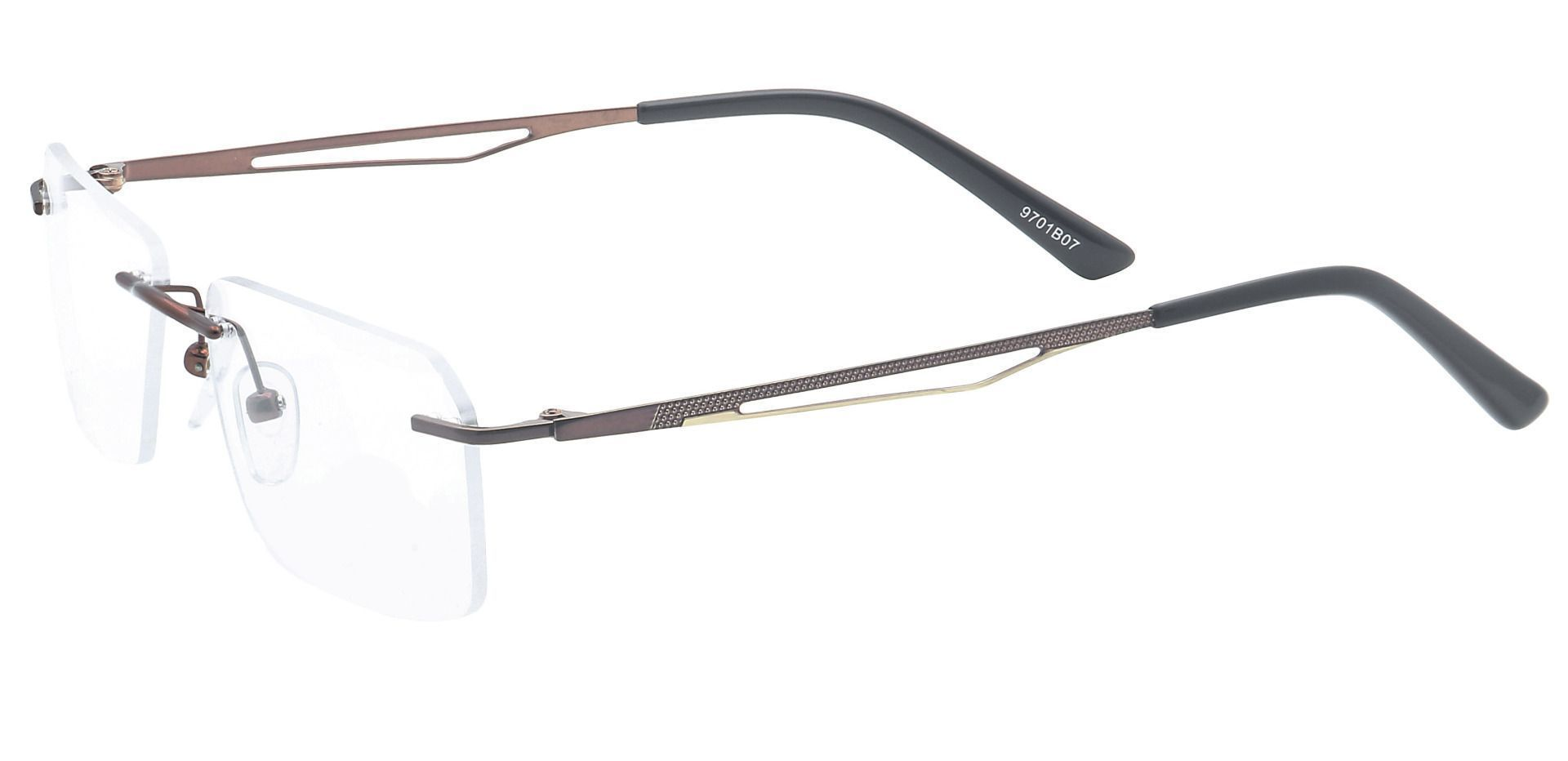 Finesse Rimless Blue Light Blocking Glasses - Brown