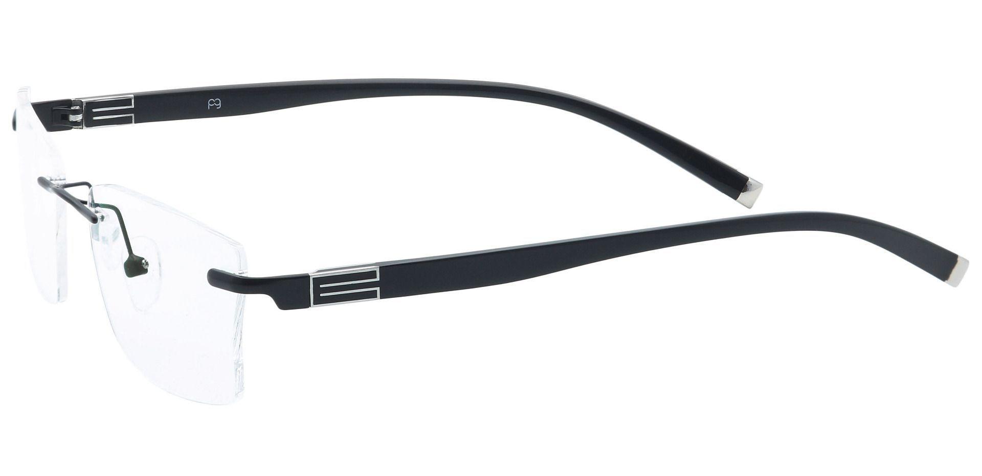 Whistler Rimless Lined Bifocal Glasses - Black